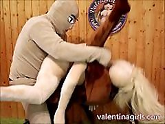 sex dolls threesome - 2 valentina girl sex dolls get fucked in pussy and ass