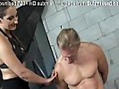Femdom Alert! red aap big ass babe whips fit guy and blows him off