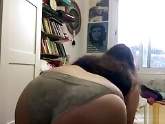 Fat Teen BBW Twerks And Smokes Weed While Playing With Her Jiggly Belly