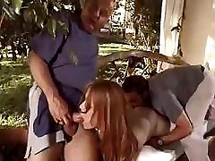 This older gal is hot for the cock and likes working it well