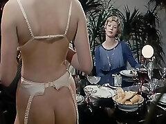 Vintage french teasing in sauna English dub