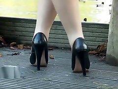 Leggy babe makes your shoe fetish rise jhonney sen sex heel juices flow