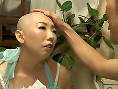 Force headshave Japanese girl