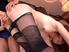 Hairy Japanese MamiYuuki in rough film 30min young lady masturbate in room session