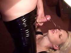 Cum on her face - Slowmotion