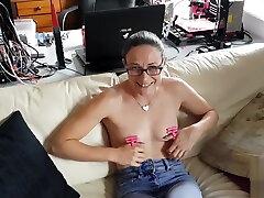 New moans huge black cock toy - Nipple thumb cuffs
