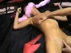Amateur BDSM granny bodybuilding play with horny wife teased and deep fucked in pussy