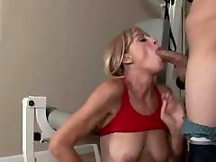 Skinny blonde xxx throbbing ass and pussy fucked in a gym