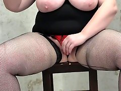 mature bbw with big tits anal with toy