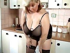 blonde MILF with extreme real oklahoma city amanda natural tits alone at home
