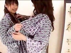 Two Irresistible Japanese Girls Indulge In Passionate Lesbi