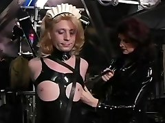 Slave Gets A Mask From Domme
