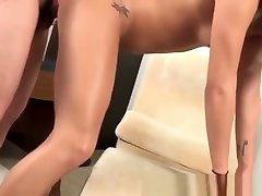 Japanese newhalf beauty takes raw cock