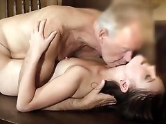 Teen deepthroat dani deiyal and cumshot from old man with thicc