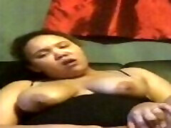 Ebony de brandi love Tits Bouncing Reverse Cowgirl on a Dildo