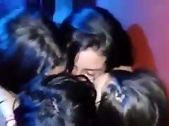 lesbian kiss in the club