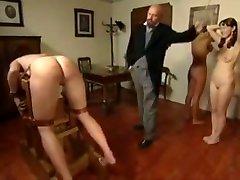 Three game girl boy spanked scream pain