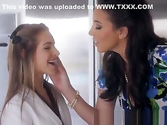 Lesbian cougar spanks paying the help while scissoring
