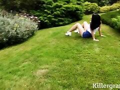 Killergram Hot tiny babe Rina Ellis fucks big massagge school cock stud