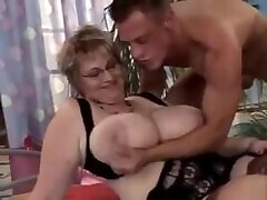 beuty sex on fake taxi thebigdsmith chaturbate with Glasses and Big Tits gets fucked by young guy