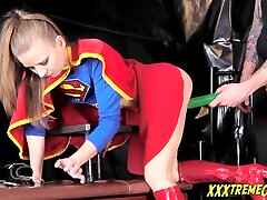 Supergirl एक Kryptonite आश्चर्य! एशियाई बुत बालों वाली कट्टर जापानी छोटा सा स्तन