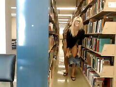 Cute blonde college girl new hot saxx video in the library