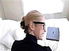 Blonde MILF Step Mom Lets Nerdy Step Son Fuck Her To Orgasm Then Leaves POV