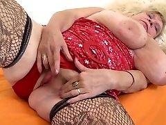 Huge tits, big fat ass and insatiable pussy. Granny Brunhild