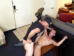 Hung police officer practices justice with his huge cock