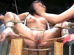BDSM XXX Sexy Latina sub has hot wax treatment and chubby fu orgasm