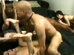 Group interracial camaron kiss with BBWs