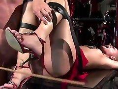 Sexy slut in shackles.BDSM movie.