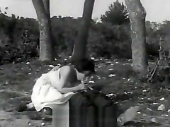 Bisexual Threesome Fucking Outdoors 1930s Vintage