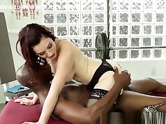 Masseuse Babe Interracially Spunked In Mouth