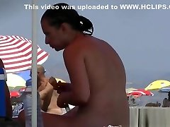 Nudist video at the porn dick hd has shy girl playing in the water