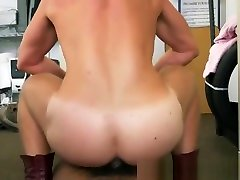 Handsome dude interracially fucked for cash in the office