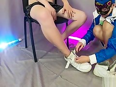 THE POWER OF SNEAKERS - Nike Air foot fetish from mistress crossdress