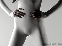 WHITE TIGHT BODYSUIT nami butt CAMELTOE SOFTCORE FETISH HEAVEN SUPERcut