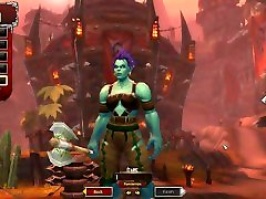 World of Warcraft: Battle for Azeroth - Orc female character creation