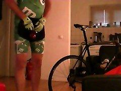 bicycle saddle fuck, crotch girdle, elktro, pp, pa. cycling