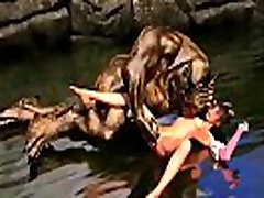 River Monster. 3D monster hentai