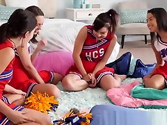 Lustful cheerleader lesbians scissoring and licking vagina