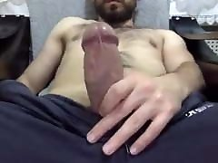Young skinny hairy turk on cam with cum