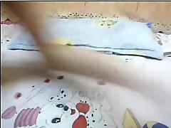 Teen small tit wife masturbation in webcam show