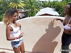 Evi Rei & Kandie Monae & Kiki Star in 26 Minutes of nude karizma Lesbians - BangBros