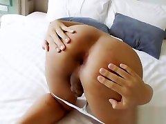 Asian Tgirl Namlyn Strokes Her perfect strangers porn Cock