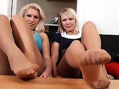 Abi and Lanas hot adria gra foot show