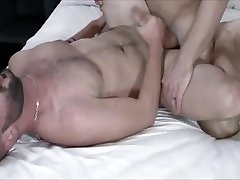 Muscle gay spanking with cumshot