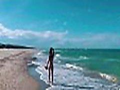 ASS DRIVER XXX - Naked Russian mom vul movie girl Sasha Bikeyeva on on the public beaches of Valencia