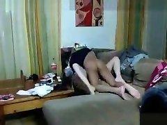 Hot Laptop CamFucking on the Sofa, kiara mia gloves katrena saxxj 88: cam girl - adult creampie granny foursome Webcam